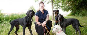 Susanne Wille mit ihren Hunden