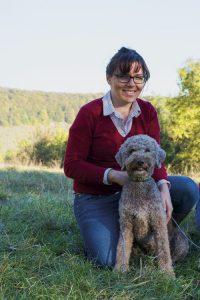 Trüffelhund Mia mit Frauchen
