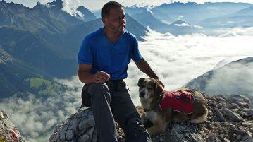 Bergwandern wandern mit Hund