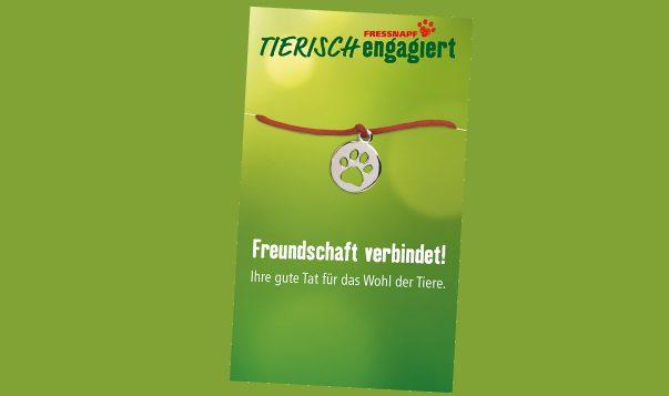 """Das Armband """"Freundschaft verbindet"""" von Fressnapf"""