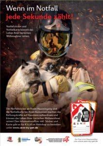 Poster für Notfall-Sticker