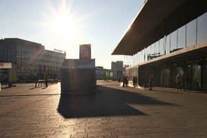 Morgens auf der Messe Stuttgart