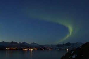 Aurora borealis in Senja