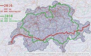 Peter Frommenwiler wanderte mit seiner Hündin in 11 Wochen um die Schweiz herum.