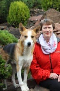 Martina Stricker mit ihrem Hund Aaron