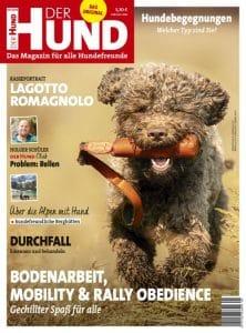 Cover DER HUND 9/19, ein brauner Lagotto läuft auf den Betrachter zu