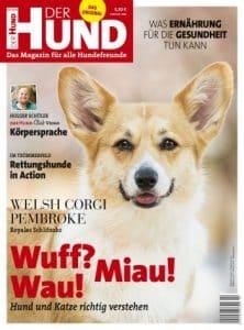 Das Cover der Ausgabe 2/20 von DER HUND ziert ein Corgi
