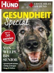 """Das Cover der Special Ausgabe """"Gesundheit"""" von DER HUND"""