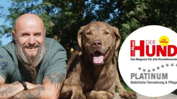 Holger Schüler mit Chesapeake Bay Retriever Dakota