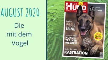 Cover der Ausgabe 9/20 von DER HUND, mit Malinois Ingo und Steinkauz Poldi
