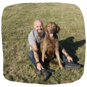 Holger Schüler mit Chesapeake Bay Retriever Dakota