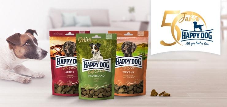 Happy Dog Soft Snacks gewinnen