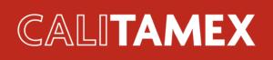 Calitamex Logo in weißer Schrift auf rotem Hintergrund