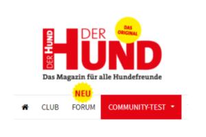 Ausschnitt des Reiters auf www.derhund.de
