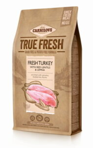 Ein 1,4-Kilo-Sack Carnilove True Fresh Truthahn